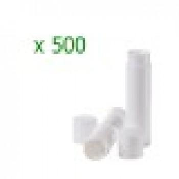Pachet 500 bucati recipiente  stick albe  pentru balsam de buze
